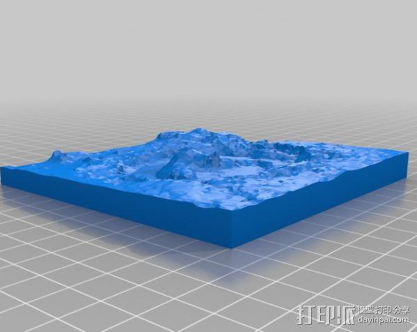 火星陨坑 模型 3D模型  图3