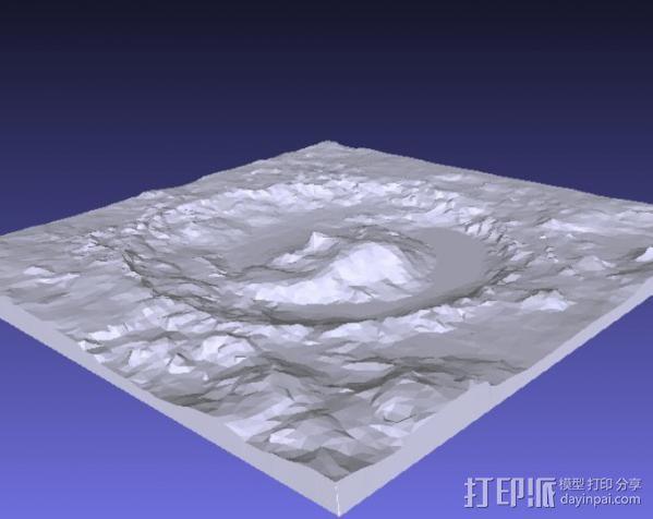 火星陨坑 模型 3D模型  图2