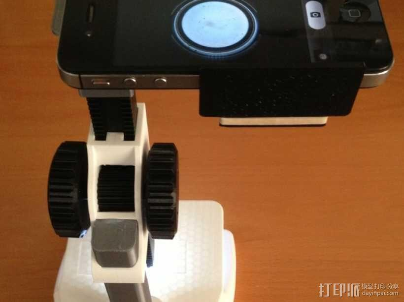 智能手机显微适配器 3D模型  图1