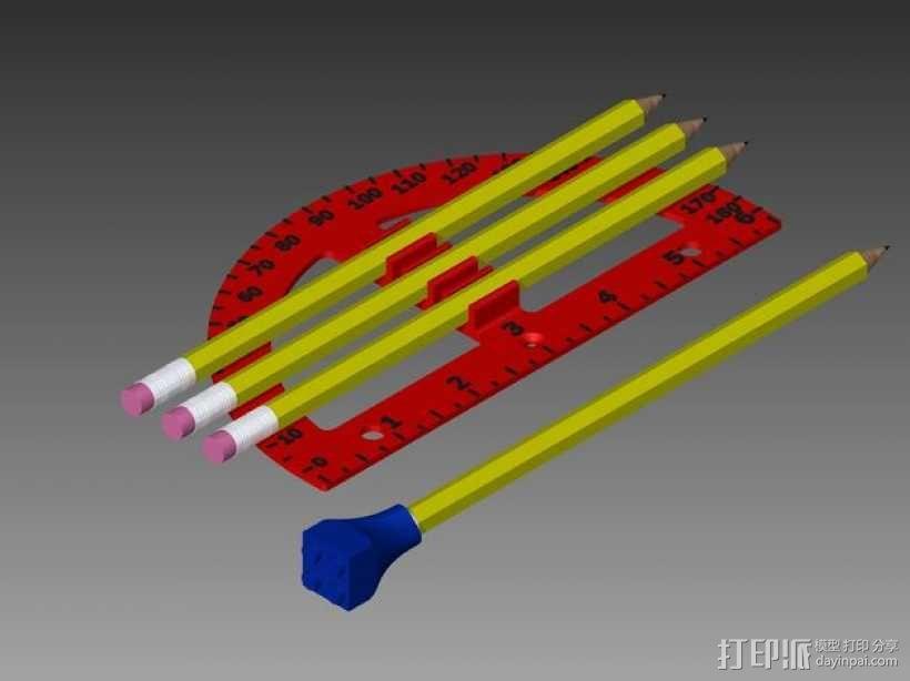 量角器 3D模型  图1