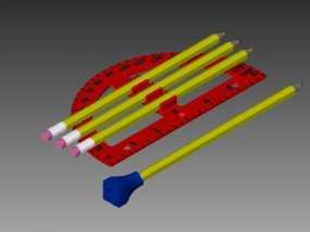 量角器 3D模型