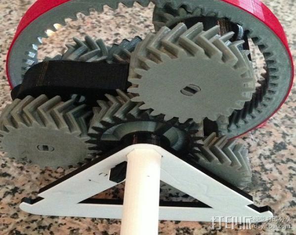 自动换档齿轮圈 3D模型  图1