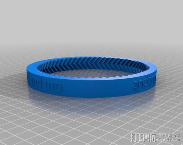 自动换档齿轮圈 3D模型  图2