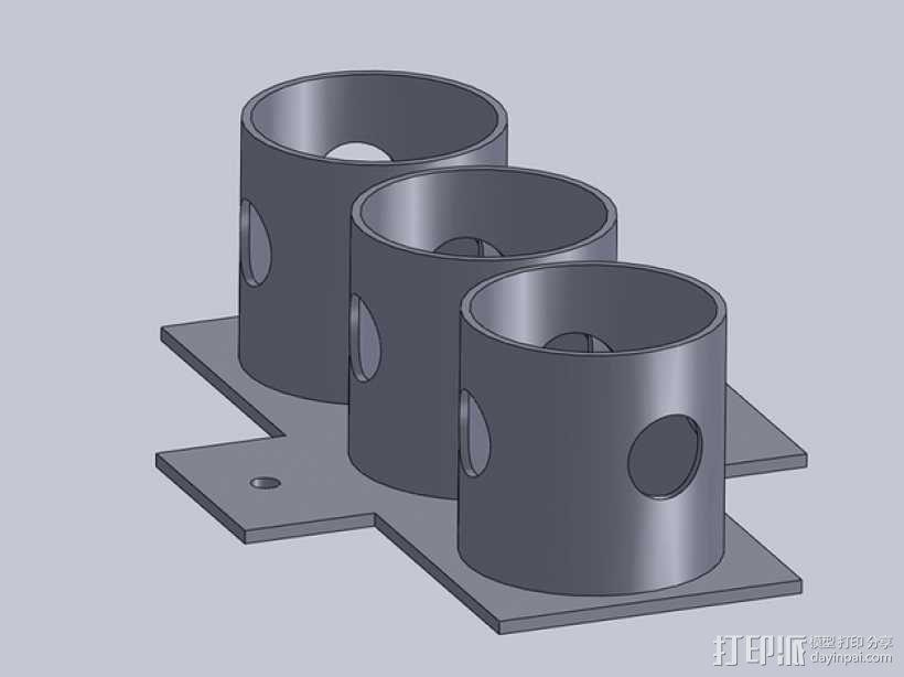 瓶架 扶瓶托 3D模型  图4
