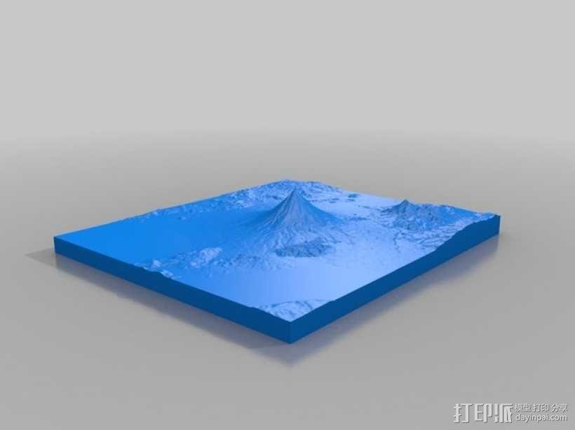 马荣火山 模型 3D模型  图2