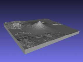 马荣火山 模型 3D模型