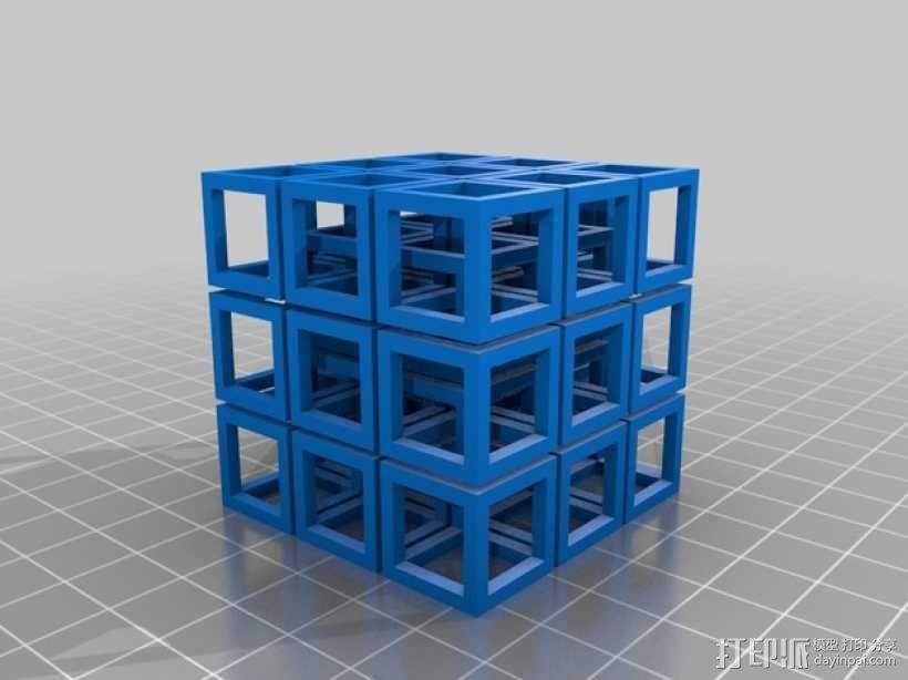 立方体方块 3D模型  图1