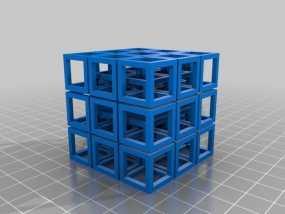 立方体方块 3D模型