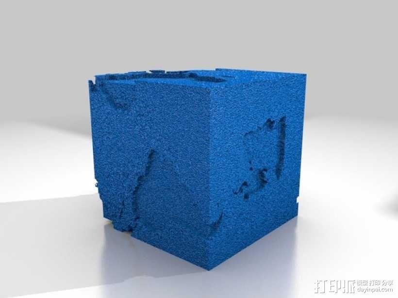 立方体地球模型 3D模型  图1