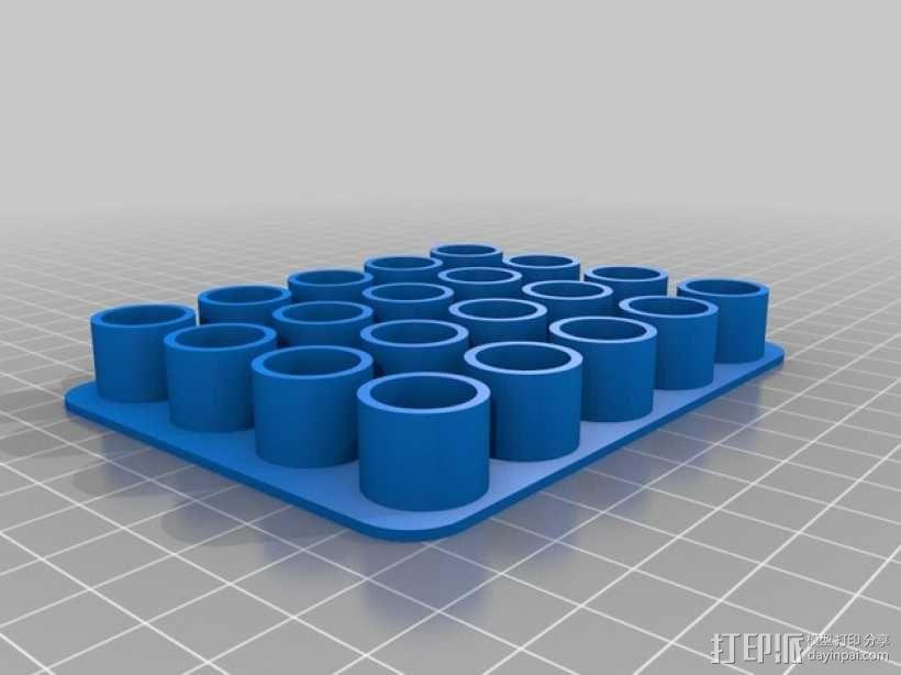 色谱瓶架 瓶托 3D模型  图3
