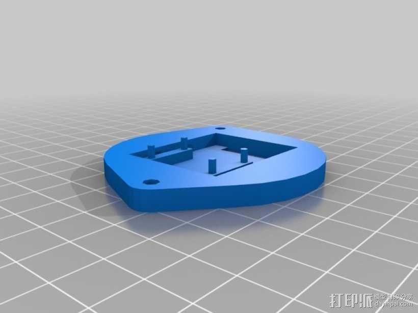树莓派 盒子 3D模型  图13