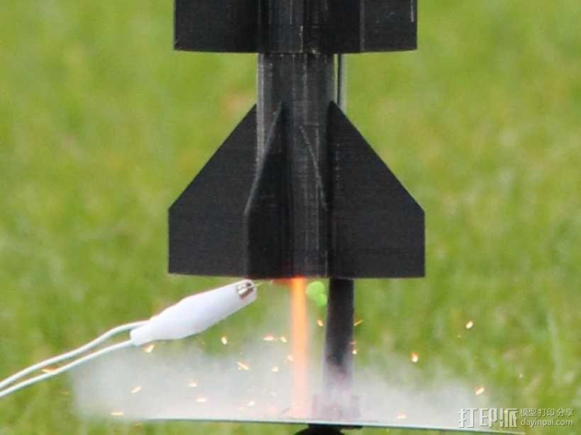 火箭模型 3D模型  图1
