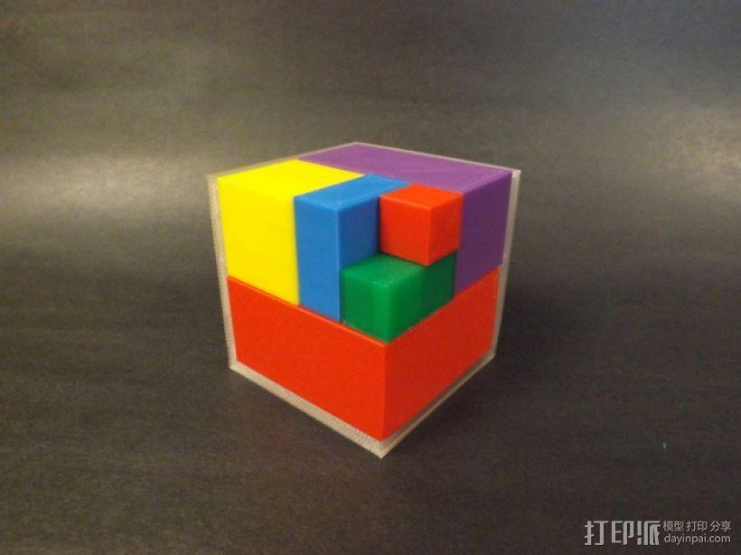 几何方块 教学用具 3D模型  图1