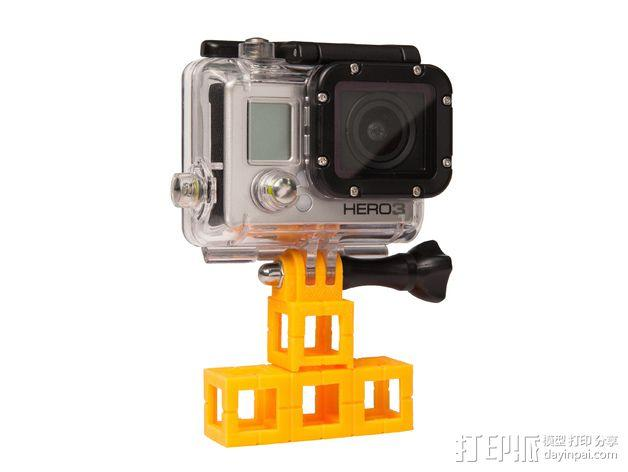 GoPro 照相机支座 3D模型  图3