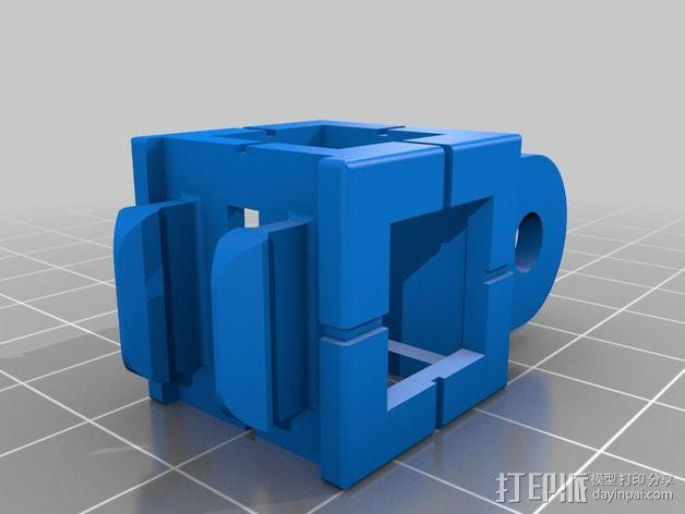 GoPro 照相机支座 3D模型  图4