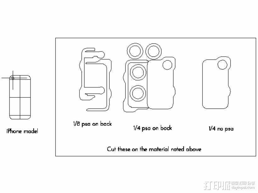 iPhone5照相适配器 3D模型  图1