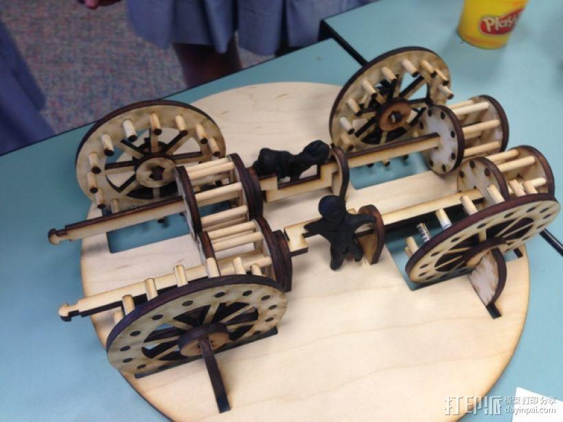 达芬奇坦克模型 3D模型  图4