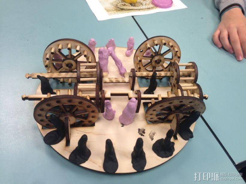 达芬奇坦克模型 3D模型  图3