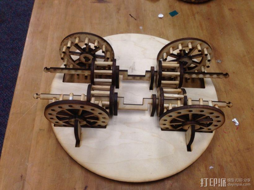 达芬奇坦克模型 3D模型  图1