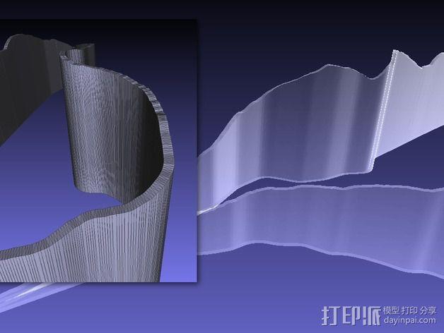 纵剖面地图路线图 3D模型  图4