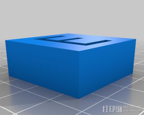 字母模型块 3D模型  图3