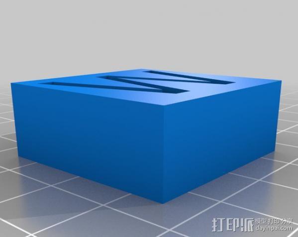 字母模型块 3D模型  图5