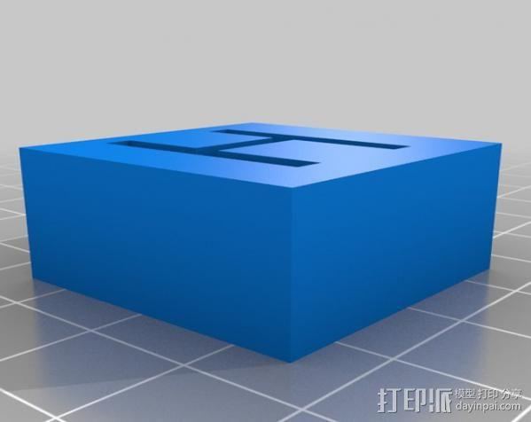 字母模型块 3D模型  图4