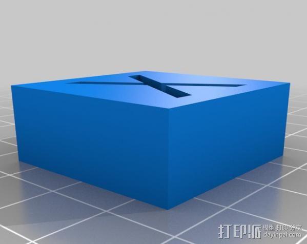 字母模型块 3D模型  图6