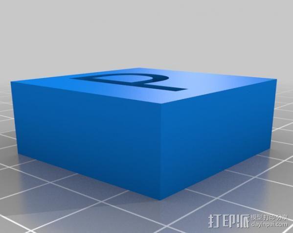 字母模型块 3D模型  图8