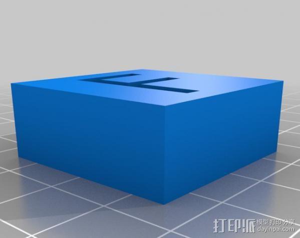 字母模型块 3D模型  图12