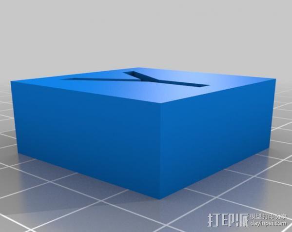 字母模型块 3D模型  图13