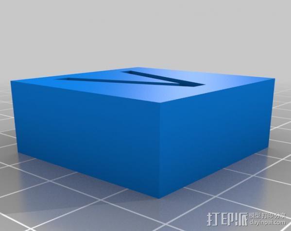 字母模型块 3D模型  图14