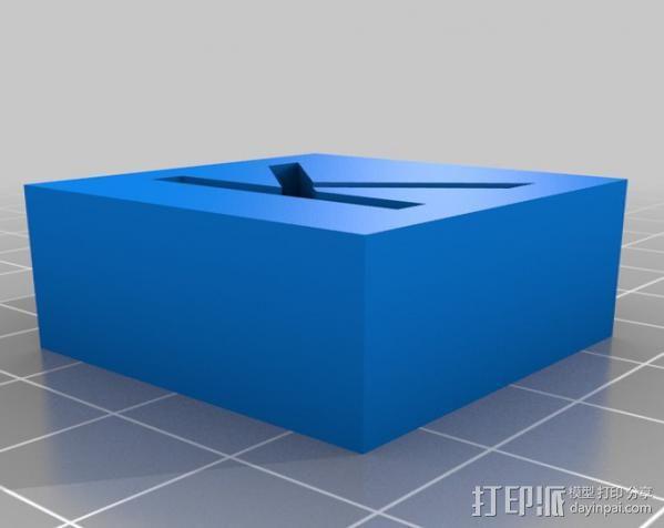 字母模型块 3D模型  图19