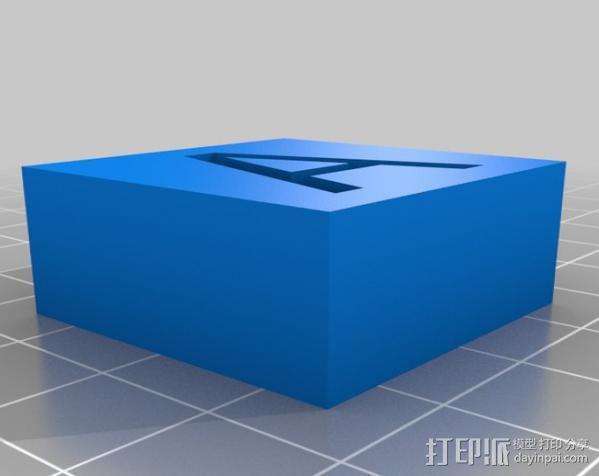 字母模型块 3D模型  图20