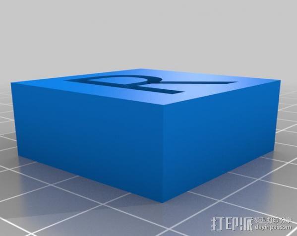 字母模型块 3D模型  图22