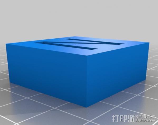 字母模型块 3D模型  图21