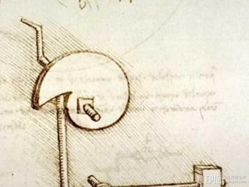 达芬奇的凸轮锤 3D模型  图1