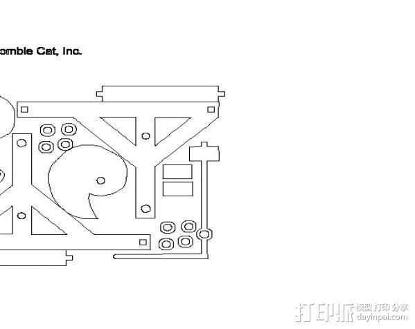 达芬奇的凸轮锤 3D模型  图3