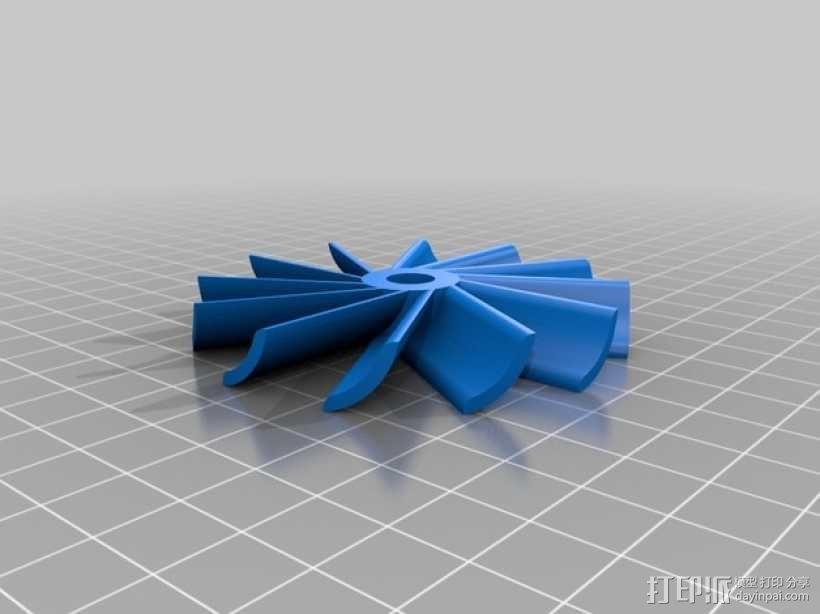 水轮机 风车 3D模型  图1