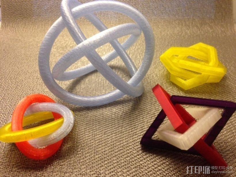 布尔环 3D模型  图1