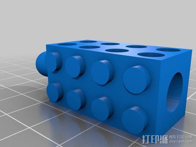 乐高积木铅笔套 3D模型  图1