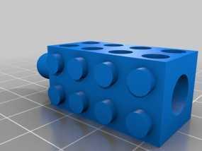 乐高积木铅笔套 3D模型