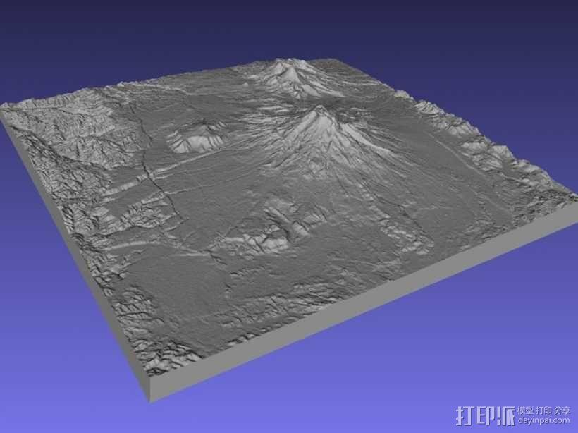 鲁阿佩胡火山 地图模型 3D模型  图1