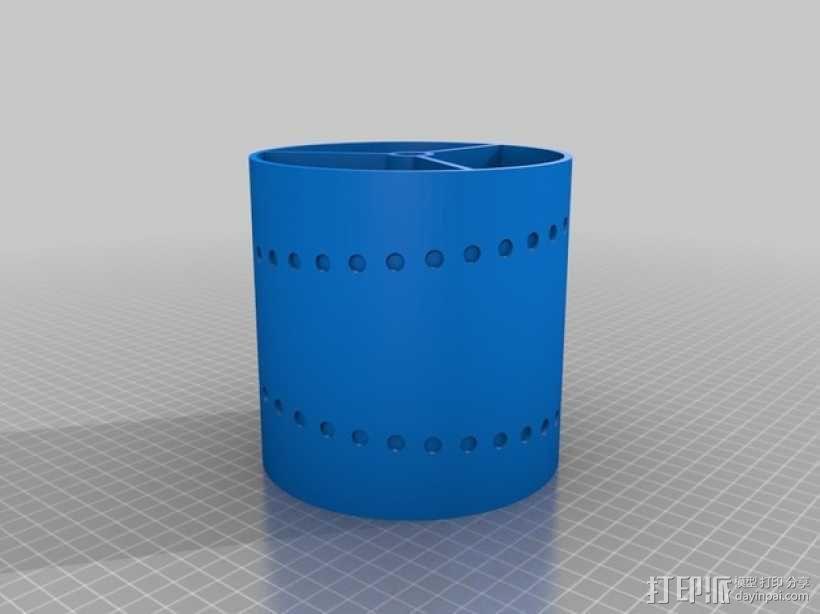 电机滚筒 3D模型  图1