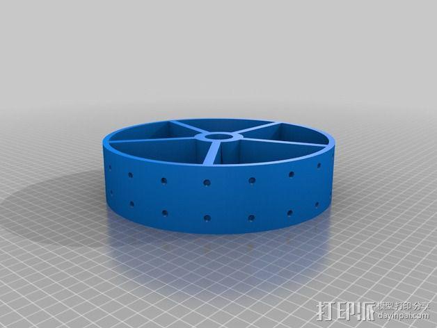 电机滚筒 3D模型  图2