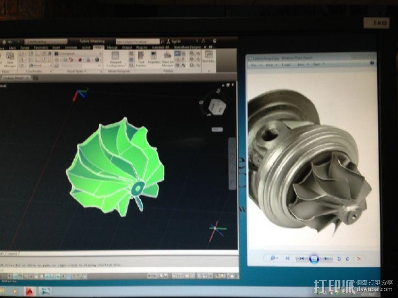 涡轮增压器涡轮 3D模型  图3