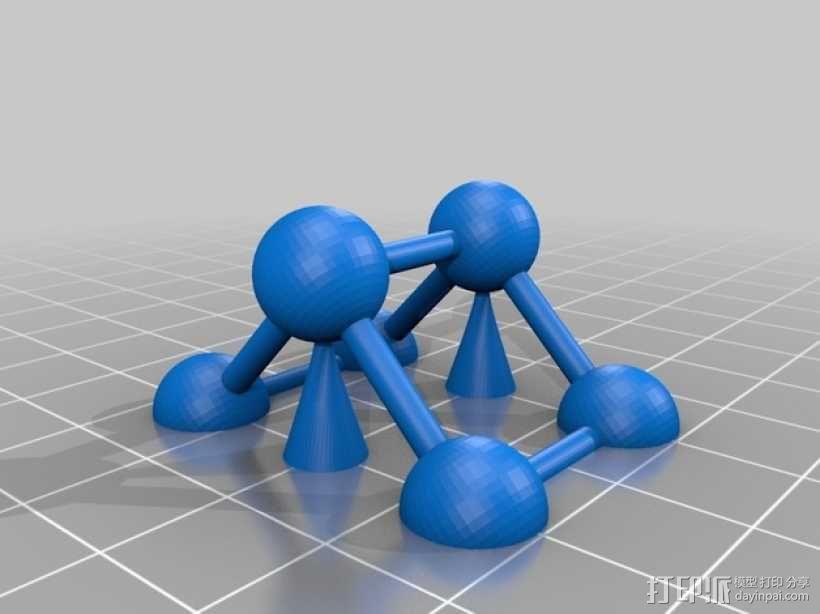 立方晶胞模型 3D模型  图2
