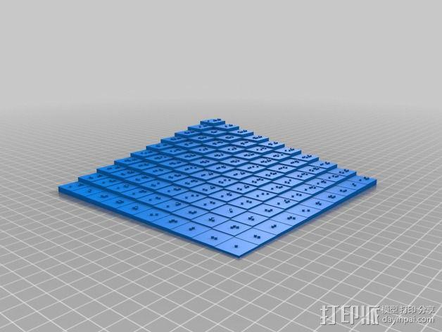 盲文板 3D模型  图1