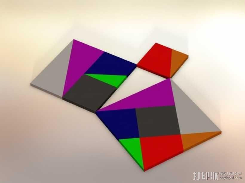 勾股定理七巧板 3D模型  图1