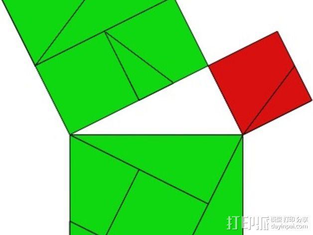 勾股定理七巧板 3D模型  图2